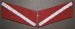 Interwar Latvian Army/holocaust Collaborationist Security Police Collar Patches