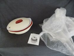 Tupperware 3 Pc Heat N Serve Insulated Server Serving Bowl With Lid 5006 New