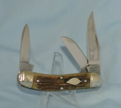 RARE 1ST GENERATION BULLDOG STAG TOBACCO SOWBELLY KNIFE quot;NEAR MINT NO CASE BOX