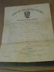 Original Pre Wwi 1913 Discharge Papers 82nd Coastal Artillery Fort Totten Ny