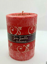 Romance Spell Pillar Soy Wax Red Candle 3x4 inches