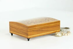Italian Marquetry Vintage Music Box And Jewelry Chest, Lara's Theme, Reuge 38846