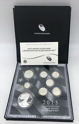 2013 United States Mint Limited Edition Silver Proof Set 6 Coins