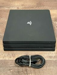 Sony Ps4 Pro 1tb Cuh-7015b Console With Cords - Free Shipping --