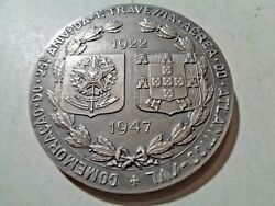 Portugal Very Rare Large Silver Medal 1947