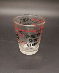 Genuine Shot Glass Collectible Big Shot Glass Bar Ware Shooter Two Bullet Holes
