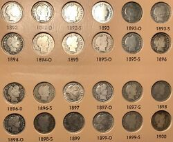 1892 -1916 Complete Set Of Barber Dimes - Many Higher Grades In This Collection