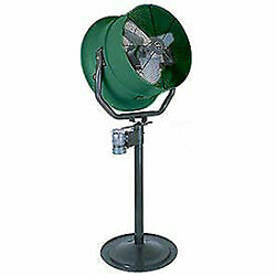 Triangle Engineering 30 Pedestal Fan With Poly Housing 1/2 Hp 7900 Cfm Single