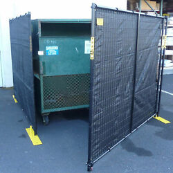 4 Sided Dumpster Enclosure With Gate 7-1/2and039w X 7-1/2and039d X 6and039h