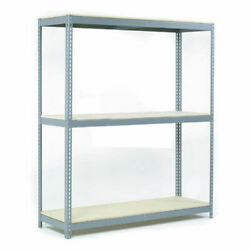Wide Span Rack With 3 Shelves Wood Deck, 1100 Lb Capacity Per Level, 96w X 48d