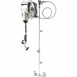 Krowne Hose Reel Assembly Enclosed Stainless Steel 8 Center Faucet 24-502