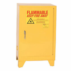 Flammable Liquid Towerand8482 Safety Cabinet With Self Close 12 Gallon