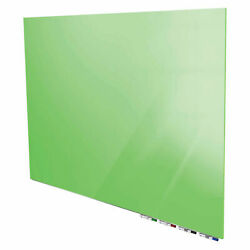 Ghentand174 Aria 8and039w X 4and039h Magnetic Glass White Board - Green