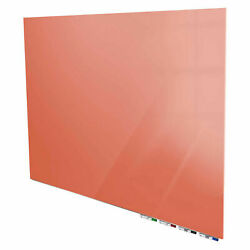 Ghentand174 Aria 8and039w X 4and039h Magnetic Glass White Board - Peach