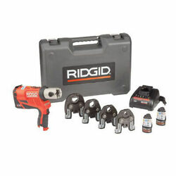 Ridgid Rp 240 Battery Press Tool Kit Propress Jaws For 1/2 To 1-1/4 Copper And