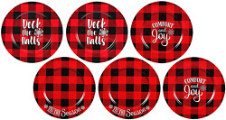 Red Charger Plates Set Of 6 Christmas Charger Plates, Plastic Charger Plates,