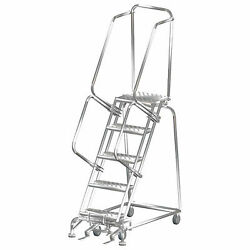 Ballymore Ss052414p 5 Step 16wx46d Stainless Steel Rolling Safety Ladder