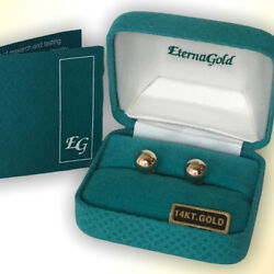 Eternagold 14k Gold 7mm Ball Post Earrings With Box -lifetime Warranty By Eg Qvc