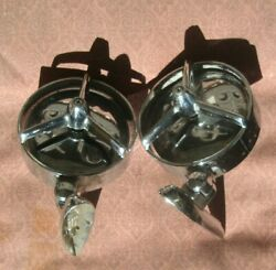 50s 60s Yankee Tri Bar Exterior Chrome Outside Mirrors Ford Chevy Plymouth