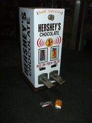 1940's Penny Hershey's Bite Size Chocolate 2 Column Vending Machine Diner Candy