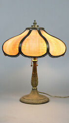 Antique Arts And Crafts Tudor Spanish Revival Table Lamp 13587