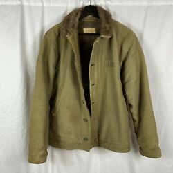 Original Wwii Us Navy Corduroy Ex Cond Size 40 Named