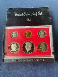 1981 S United States Proof Set 6 Coins Susan B Anthony Dollar