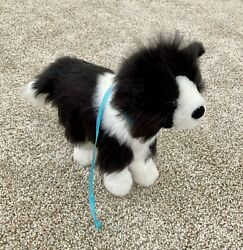 American Girl Saige 2013 Rembrandt Border Collie Puppy Dog Plush Toy with Leash
