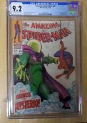 Amazing Spiderman 66 1968 Cgc 9.2 Stellar Off Wh-wh Great Mysterio Cover