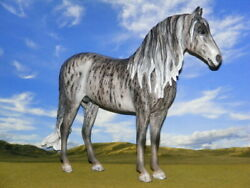 OOAK Breyer cm Custom Horse Duende to a Gray Brindle by D.Williams *Stunning *