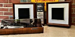 See Video Panasonic Re-787 Auto-tune Amfm Stereo W/serviced Bsr Record Changer
