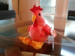 #x27;Strut#x27; the Rooster Ty Beanie Baby MINT RETIRED