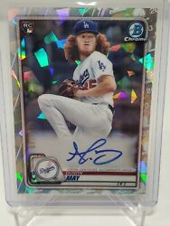 2020 Bowman Chrome Dustin May Atomic Refractor Auto Rc /100 Topps Dodgers Cra-dm