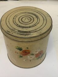 Vinatge Old American Large Tin Can Container. Old American Vintage Tin.