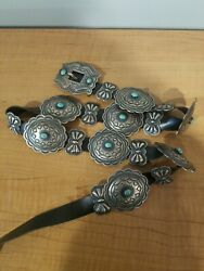 Vintage/new Nos Harry Morgan Navajo Turquoise/sterling Silver Concho Belt