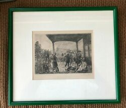 Very Fine John Sloan Etching Signed And Framed Andldquowake On The Ferryandrdquo