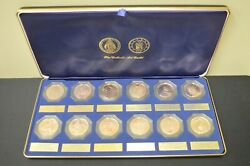 The Catholic Art Guild Set Of 12 Bronze Proof Medals