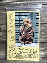 Primitive The Country Cupboard Snowman With Baby Stocking Sewing Pattern Uncut