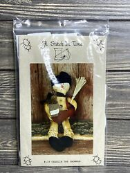 Primitive A Stitch In Time Charlie The Snowman 119 Sewing Craft Pattern Cut