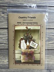 Primitive Country Friends Gift Bag Tree Snowman 848 Sewing Craft Pattern Uncut