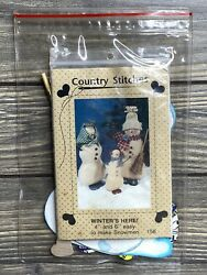 Primitive Country Stitches Winters Here Snowman Family 158 Craft Pattern Cut
