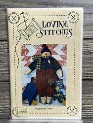 Primitive Loving Stitches Frostbite Fred Snowman Sewing Craft Pattern Uncut