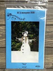 Primitive Homespun Hill Icy Snowman Icicles 153 Sewing Craft Pattern Uncut