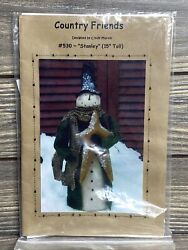 Primitive Country Friends Snowman With Star 530 Sewing Craft Pattern Cut
