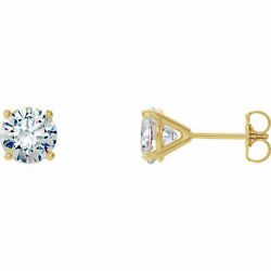 Diamant 4-prong Cocktail-style Earrings In 14k Or Jaune 1.00 Ct. Tw