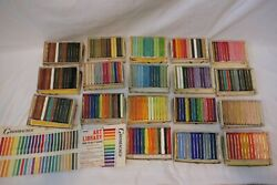 Grumbacher Golden Palette Pastels And Corot Drawing Crayons Huge Lot