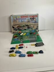 Marx Service Station Toy See And Play Vintage / Antique Extremely Rare W 27 Cars