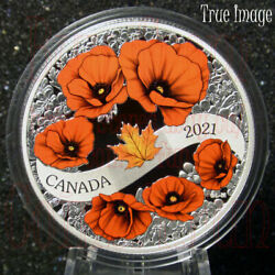 2021 Lest We Forget - A Wreath Of Remembrance 20 Pure Silver Proof Coin Canada