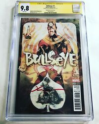 Cgc Ss 9.8 Bullseye 1 Variant Cover Signed By Bill Sienkiewicz
