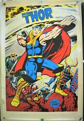 The Mighty Thor Poster Marvelmania Jack Kirby Art 1970 35 X 23 Inches High Grade